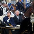 Le roi et la reine de Suède lors des célébrations de la Fête Nationale suédoise, le 6 juin 2009