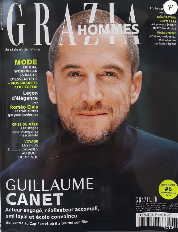 Guillaume Canet en couverture de Grazia Hommes - printemps-été 2019