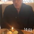 La star de C8 Benjamin Castaldi entouré de ses fils Julien, Simon et Enzo pour ses 49 ans, le 28 mars 2018 à Paris.