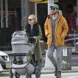 Danny Fujikawa, Kate Hudson et leur bébé Rani à New York, le 9 janvier 2019.