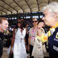 Flavio Briatore, Naomi Campbell et son fiancé Vladislav Doronin lors du Grand Prix de Formule 1 de Turquie le 7 juin 2009