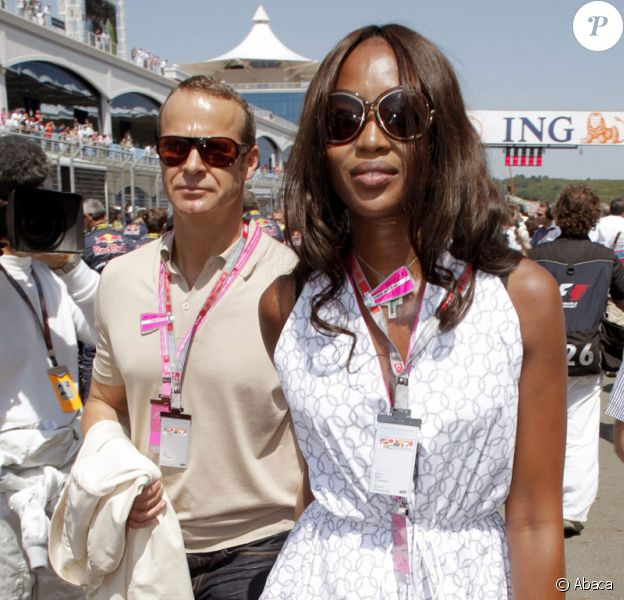 Naomi Campbell et son fiancé Vladislav Doronin lors du Grand Prix de Formule 1 de Turquie le 7 juin 2009