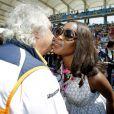 Naomi Campbell et Flavio Briatore lors du Grand Prix de Formule 1 de Turquie le 7 juin 2009