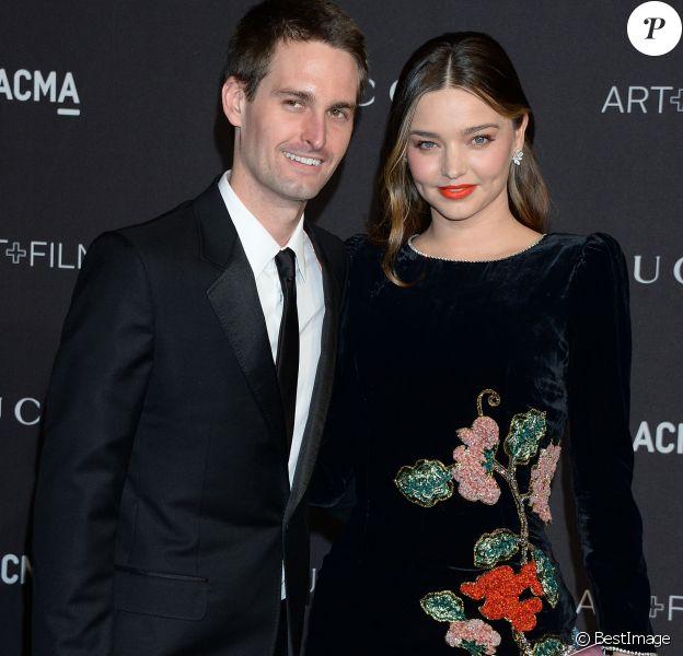 Miranda Kerr et son mari Evan Spiegel à la soirée LACMA Art + à Los Angeles, le 3 novembre 2018.