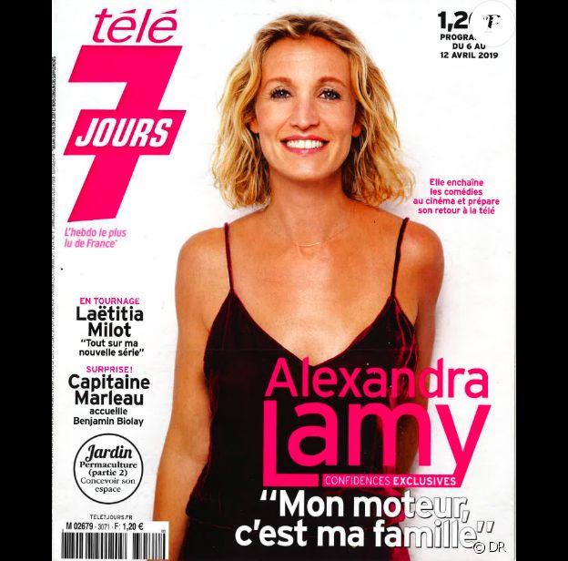 Alexandra Lamy en couverture de Télé 7 Jours du 6 avril 2019