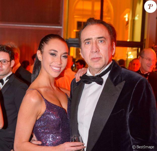 Nicolas Cage et Erika Koike au ball des juristes au palais Hofburg à Vienne, Autriche, le 7 mars 2019.