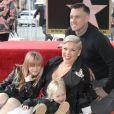 Pink, son mari Carey Hart avec leurs enfants Jameson Moon Hart et Willow Sage Hart - La chanteuse Pink (Alecia Beth Moore) reçoit son étoile sur le Walk of Fame à Hollywood, Los Angeles, le 5 février 2019.