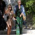 Laeticia Hallyday et son amie Christina vont rejoindre des amies dans une villa avant d'aller dejeuner à Beverly Hills le 20 juin 2018.