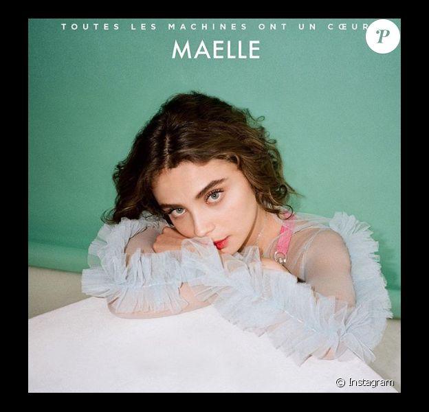 """Maëlle (The Voice 7) dévoile son single """"Toutes les machines ont un coeur"""" sur Instagram, le 2 avril 2019."""