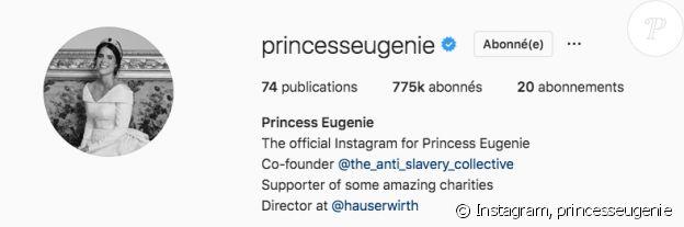 La princesse Eugenie dévoile une nouvelle photo officielle de son mariage sur Instagram, avril 2019.