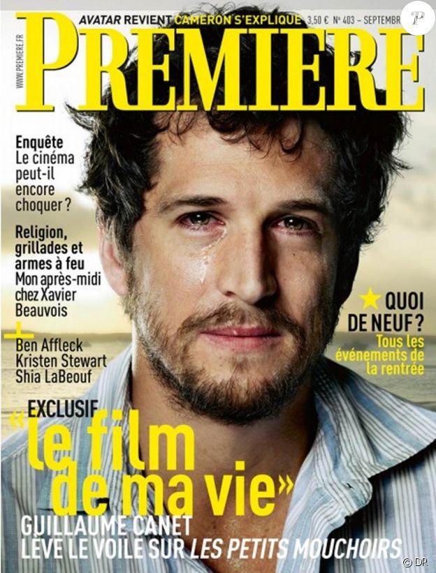 Guillaume Canet en couverture de Première, shooté par Jean-Baptiste Mondino, septembre 2010.