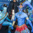 """Victoria Monfort à la première du nouveau spectacle du Cirque du Soleil """"Toruk"""", inspiré du film Avatar de J. Cameron à l'AccorHotels Arena de Bercy à Paris le 4 avril 2019. © Coadic Guirec/Bestimage"""
