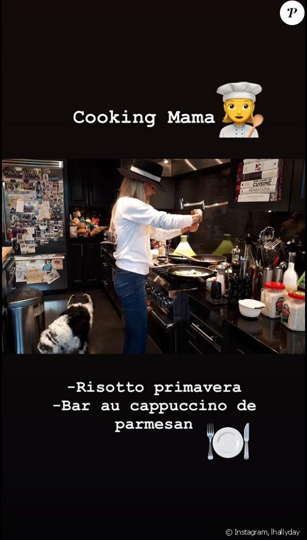 Laeticia Hallyday sur Instagram, le 6 avril 2019.