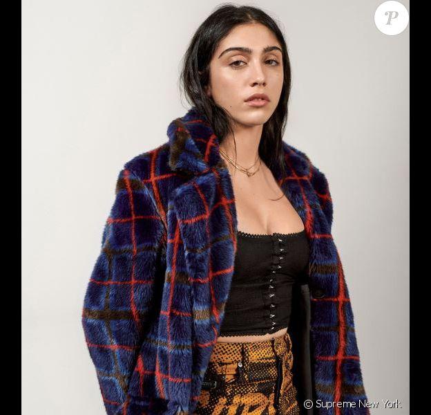Lourdes Leon, la fille de Madonna et Carlos Leon, figure sur le look book de la collection Supreme® / Jean Paul Gaultier®.