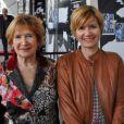 Nicole Gruyer et sa fille Frédérique Barkoff, le 5 mai 2014 au Palais Maillot à Paris.