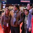 """Bernard Tapie avec sa femme Dominique, sa fille sophie Tapie et son compagnon Raphaël Goehrs - Dans le cadre du Gucci Paris Masters a eu lieu l'epreuve """"Style & Competition for AMADE"""" a Villepinte le 7 décembre 2013."""