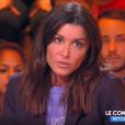 """Jenifer s'explique sur les larmes dans """"The Voice"""" (TF1) sur le plateau de Cyril Hanouna dans """"Touche pas à mon psote"""" (C8) lundi 18 mars 2019."""