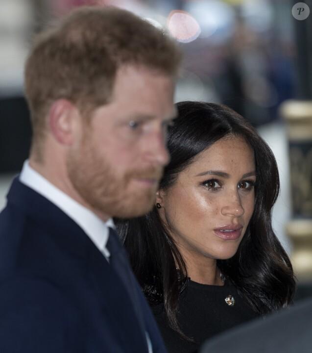 Meghan Markle, duchesse de Sussex, vient signer le livre des condoléances à New Zealand House à Londres le 19 mars 2019.