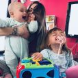 Alexia Mori avec ses filles Margot et Louise - Instagram, 8 avril 2019