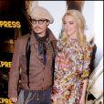 "Johnny Depp et Amber Heard au photocall du film ""Rhum Express"" à Paris Photocall en 2011"