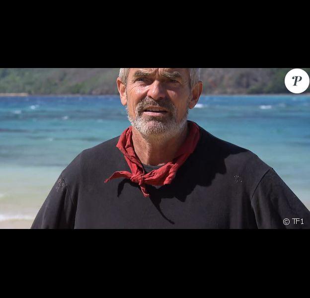 """Xavier dans """"Koh-Lanta, la guerre des chefs"""" (TF1) le 19 avril 2019."""