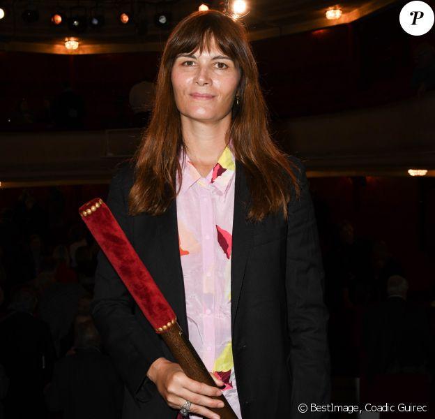 """Marina Hands (Prix du Brigadier 2018 pour """"Soeurs"""") lors de la remise des prix Brigadiers 2018 au théâtre Montparnasse à Paris, France, le 18 avril 2019. © Coadic Guirec/Bestimage"""