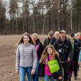 La princesse héritière Victoria de Suède en promenade dans le comté de Halland le 12 avril 2019 dans le cadre de son programme de promotion des paysages suédois. © Raphael Stecksén/Cour royale de Suède