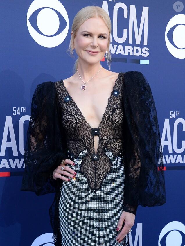 Nicole Kidman lors de la 54ème cérémonie des Academy of Country Music Awards au MGM Grand Hotel & Casino à Las Vegas, Nevada, Etats-Unis, le 7 avril 2019.