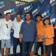 Exclusif - Dorian, Cyril Rouquet-Prévost, Rémi Castillo, Guy Lecluyse, Diego et Esteban et Aurélie Vaneck (enceinte) - Festival des jeunes talents à La Teste le 5 juillet 2015.
