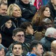 Les parents de K.Mbappé, sa mère Fayza Lamari et son père Wilfried Mbappé, et son frère Ethan Mbappé lors de la victoire du Stade Rennais (2-2, 6-5 aux t.a.b.) en finale de la Coupe de France contre le PSG le 27 avril 2019 au Stade de France.