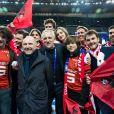 François-Henri Pinault et François Pinault étaient présents en famille le 27 avril 2019 au Stade de France pour la finale de la Coupe de France remportée par leur club, le Stade Rennais, contre le PSG.