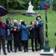 La maire de Paris, Anne Hidalgo inaugure une allée au nom de Jacques Higelin dans le parc Montsouris, Paris, le 11 mai 2019. © Stéphane Lemouton / Bestimage