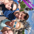 Elodie Gossuin, son mari Bertrand Lacherie et des amis au Run my city, dimanche 15 mai 2019