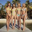 Lorena Rae, Grace Elizabeth, Megan Williams, Maya Stepper - Campagne de la nouvelle collection de maillots de bain de Victoria's Secret.
