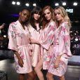 Herieth Paul, Vanessa Moody, Alexina Graham, Frida Aasen - Coulisses du défilé Victoria's Secret 2017 à la Mercedes-Benz Arena à Shanghaï, le 20 novembre 2017.