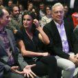 """Letizia d'Espagne lors de la finale espagnole du concours de monologues scientifiques """"FameLab España 2019"""" à Madrid le 14 mai 2019."""