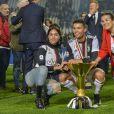 Cristiano Ronaldo et sa compagne Georgina Rodriguez et sa mère Maria Dolores dos Santos Aveiro - Cristiano Ronaldo fête en famille le titre de champion d'Italie avec son équipe la Juventus de Turin à Turin le 19 Mai 2019.