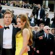 Angelina Jolie et Brad Pitt lors de la montée des marches du Festival de Cannes et la projection du film Ocean's Thirteen en 2007