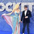 """Claudia Schiffer et son mari le réalisateur Matthew Vaughn à la première du film """"Rocketman"""" au cinéma Odeon Leicester Square à Londres, Royaume Uni, le 20 mai 2019."""