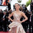"""Natasha Polyassiste à la montée des marches du film """"Roubaix, une lumière (Oh Mercy!)"""" lors du 72ème Festival International du Film de Cannes. Le 22 mai 2019 © Jacovides-Moreau / Bestimage"""