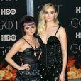 """Maisie Williams, Sophie Turner à la première de """"Game of Thrones - Saison 8"""" au Radio City Music Hall à New York, le 3 avril 2019."""