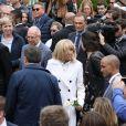 Le président de la république, Emmanuel Macron et la première dame Brigitte Macron votent pour les élections européennes au Touquet, le 26 mai 2019. © Stéphane Lemouton / Bestimage