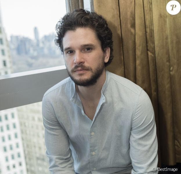 Kit Harrington au Mandarin Oriental, rendez-vous photo dans le cadre de la promotion de la nouvelle saison de Game of Thrones, New York, le 4 avril 2019.