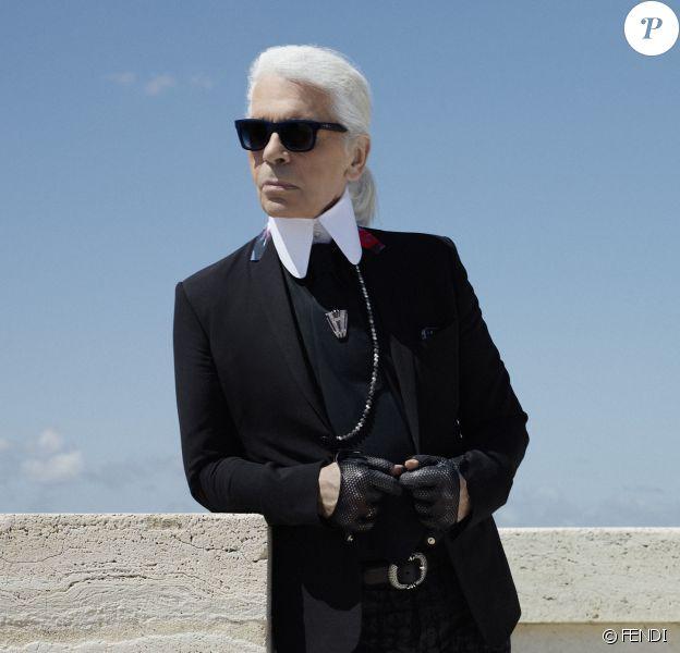 Portrait de Karl Lagerfeld, ex-directeur artistique de la maison FENDI.