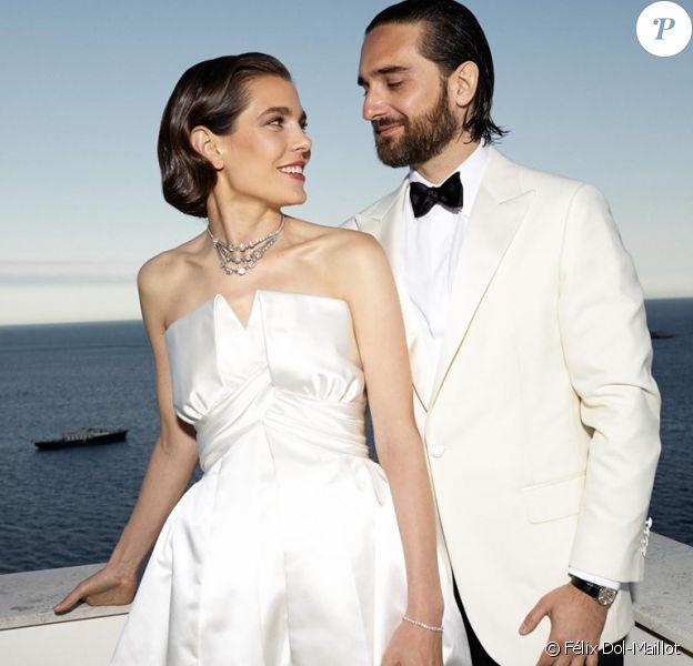 Réception à l'occasion du mariage de Mme Charlotte Casiraghi et M. Dimitri Rassam samedi 1er Juin 2019, à la Villa La Vigie.