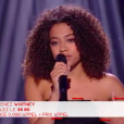 "Whitney, Team Mika, lors de la finale de ""The Voice 8"" le 6 juin 2019."