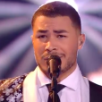 "Pierre Danaë, Team Julien Clerc, lors de la finale de ""The Voice 8"" sur TF1."