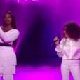 "Aya Nakamura et Whitney dans ""The Voice 8"" sur TF1, le 6 juin 2019."