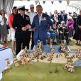 Le prince Charles - Rencontre avec des vétérans lors de la cérémonie à Portsmouth pour le 75ème anniversaire du débarquement en Normandie pendant la Seconde Guerre Mondiale. Le 5 juin 2019