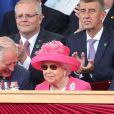 Le prince Charles, la reine Elisabeth II d'Angleterre - Cérémonie à Portsmouth pour le 75ème anniversaire du débarquement en Normandie pendant la Seconde Guerre Mondiale. Le 5 juin 2019